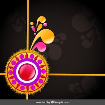 Ornamental Rakhi greeting