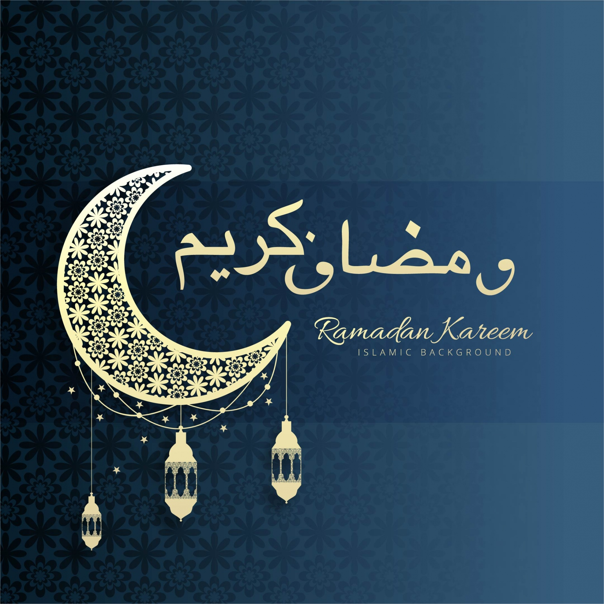 Ornamental ramadan kareem background