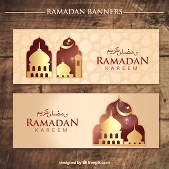 Ornamental ramadan kareem banners