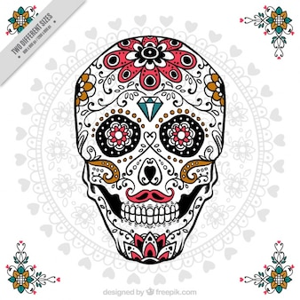 Ornamental skull for day of the dead