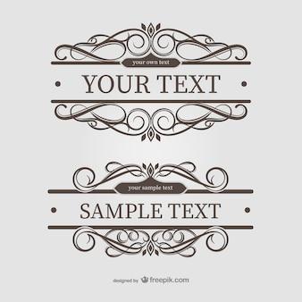 Ornamental text frames