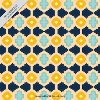 Ornamental tile background with geometrical shapes