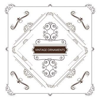 Ornamental vintage frame design