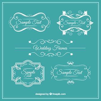 Ornamental vintage wedding frames