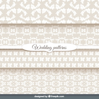 Ornamental wallpaper wedding patterns