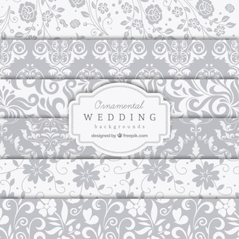 Ornamental wedding backgrounds