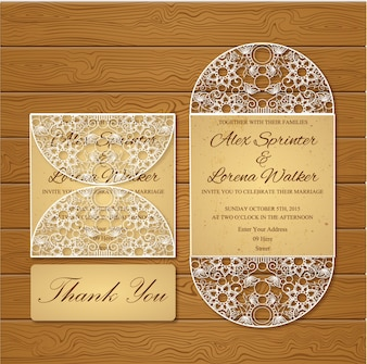 Ornamental wedding card