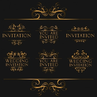 Ornamental wedding invitation designs
