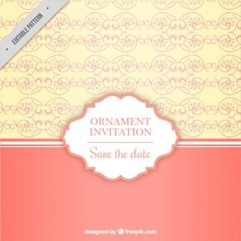 Ornamental wedding invitation pattern