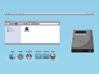Os dock finder icons window vector