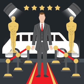Oscar awards illustration