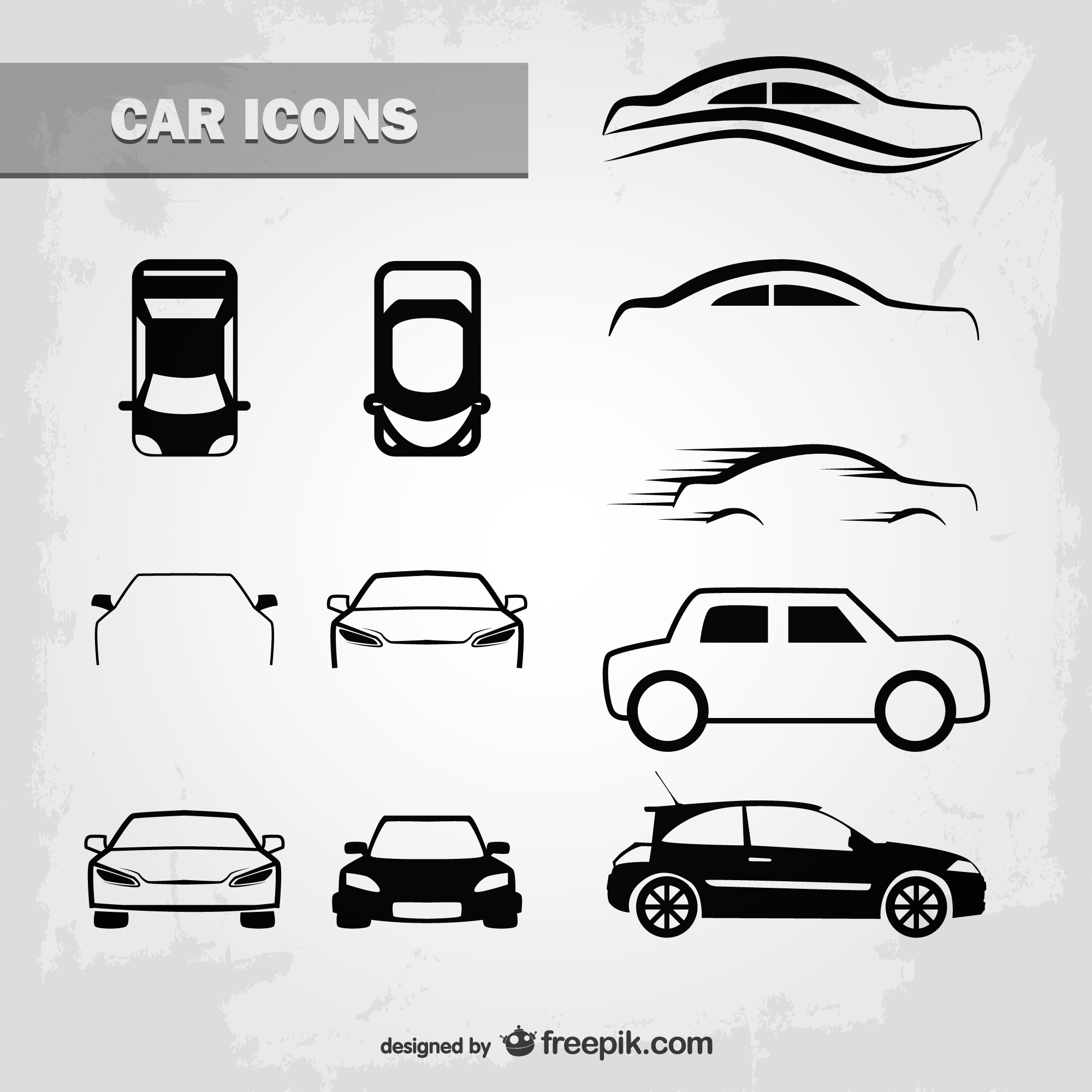 Outlined car icons