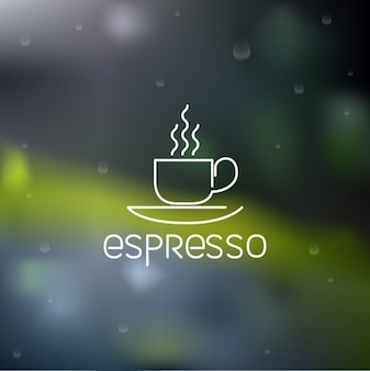 Outlined espresso coffee icon design