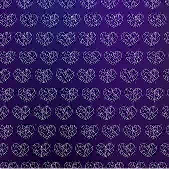Outlined hearts pattern design