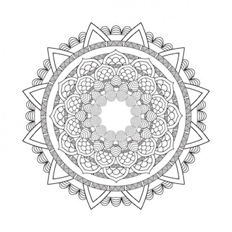 Outlined mandala background