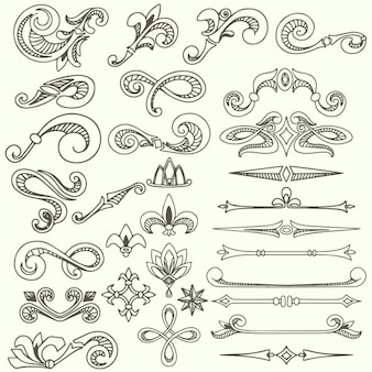 Outlined ornaments collection