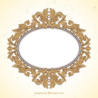 Oval frame in ornamental style