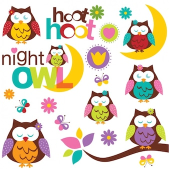 Owl designs collection