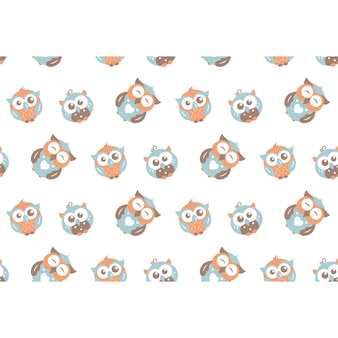 Owls pattern background