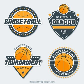 Pack basketball stickers