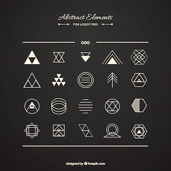 Pack of abstract elements for logotypes