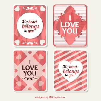 Pack of abstract love cards