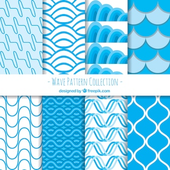 Pack of abstract wave patterns