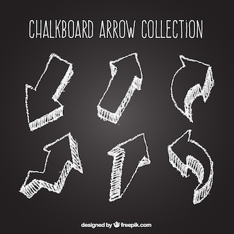 Pack of arrows drawn with chalk