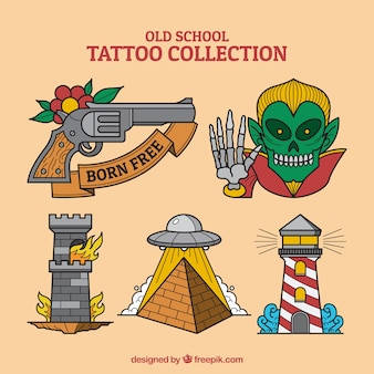 Pack of assorted tattoos