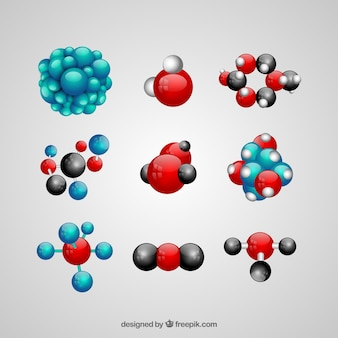 Pack of atoms structures