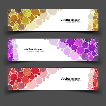 Pack of banners with circles
