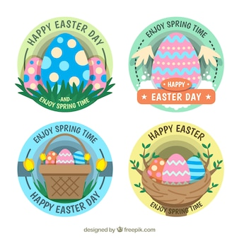 Pack of beautiful easter egg stickers