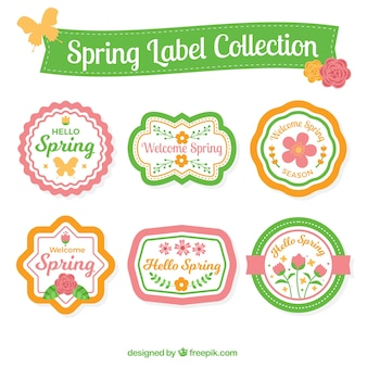 Pack of beautiful spring stickers