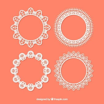 Pack of beautiful vintage lace frames