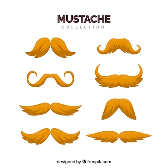Pack of blond mustaches