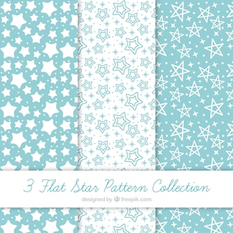 Pack of blue and white patterns with stars