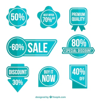 Pack of blue discount stickers