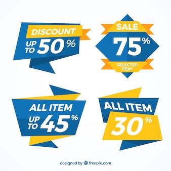 Пакет синих рекламных баннеров