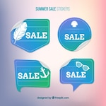 Pack of blue sales labels
