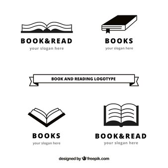 Pack of book logos