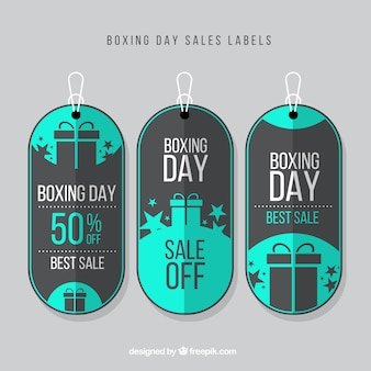Pack of boxing day sales labels