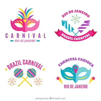 Pack of brazilian carnival stickers