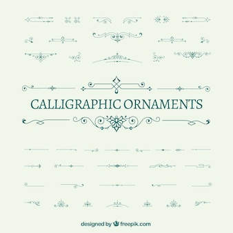 Pack of calligraphic ornaments