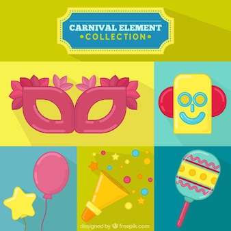 Pack of carnival decorative elements