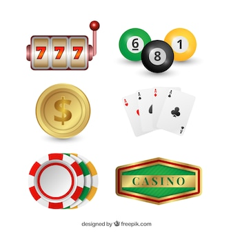 Pack of casino objects