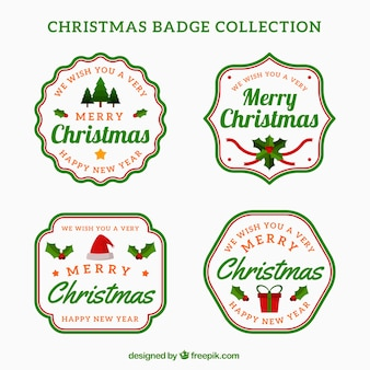 Pack of christmas badges