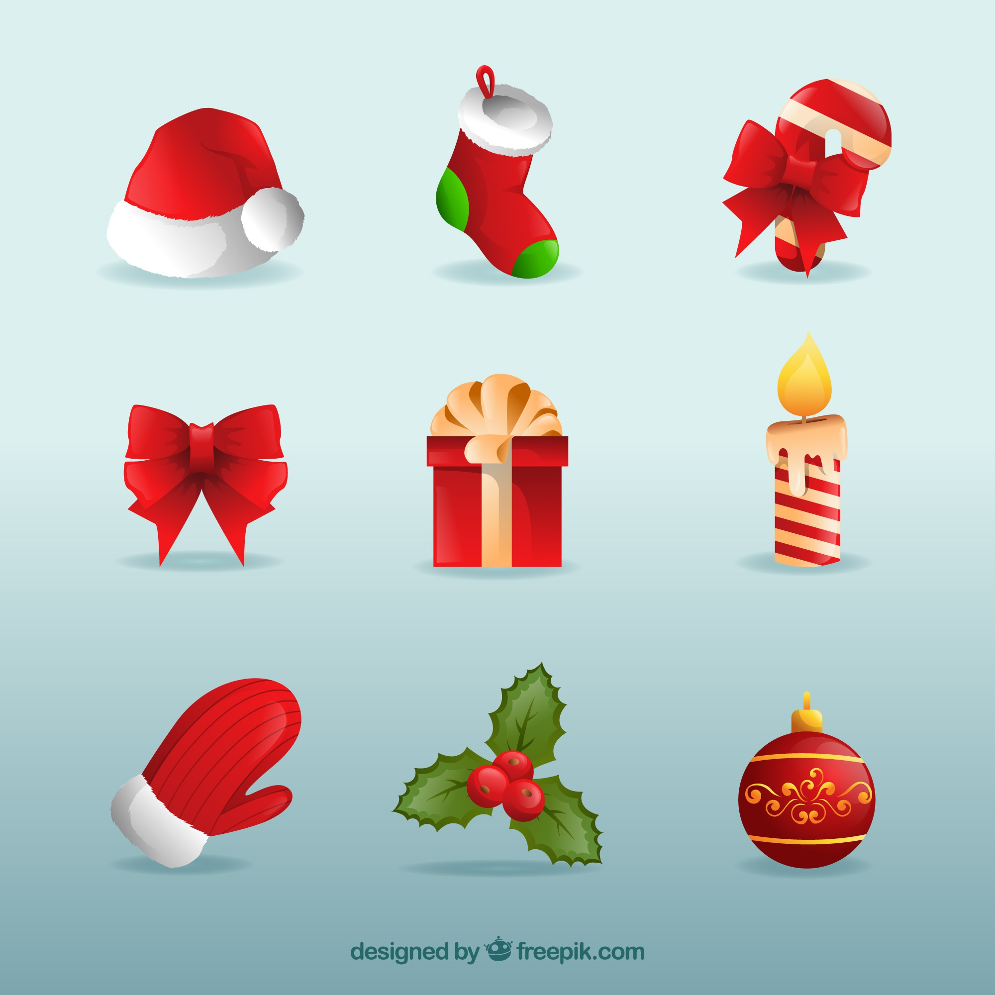 Pack of christmas objects