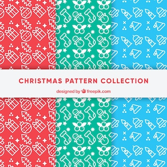 Pack of christmas patterns with drawings