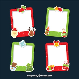 Pack of christmas photo frames