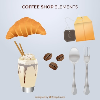 Pack of coffee and croissant items